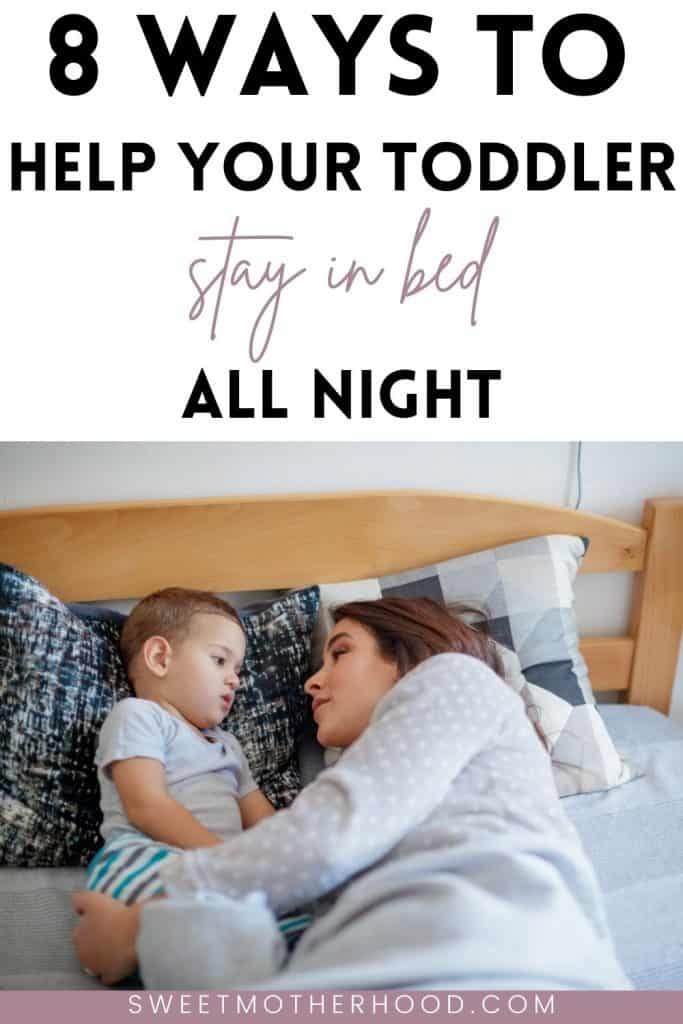 help toddler stay in bed