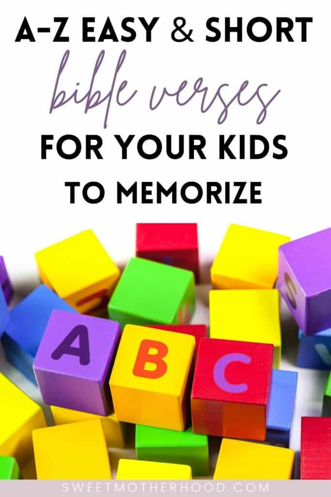 a-z bible verses for kids